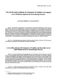 Une nouvelle analyse pollinique de la banquette du Tremblay et son ...