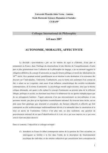 Programme du colloque - Université de Picardie Jules Verne