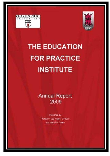 education portfolio report - Life - Charles Sturt University