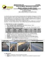 l10lr05_varieteschou.. - GRAB, Groupe de Recherche en Agriculture ...