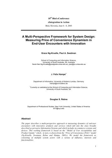 A Multi-Perspective Framework for System Design: Measuring Price ...