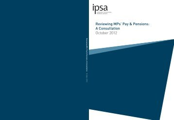 2. Reviewing MPs%27 Pay and Pensions - A Consultation
