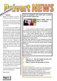 info document - Lycée Jacques Prévert