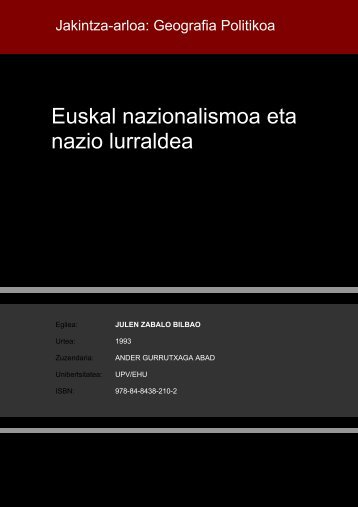 Euskal nazionalismoa eta nazio lurraldea - Euskara