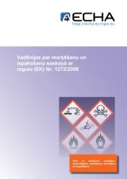Vadlīnijas par marķēšanu un iepakošanu saskaņā ... - ECHA - Europa