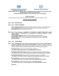 Tentative Agenda - Economic and Social Commission for Western ...