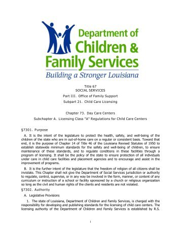 Vermont Child Care Licensing Regulations
