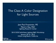 The Class A Color Designation for Light Sources - EERE