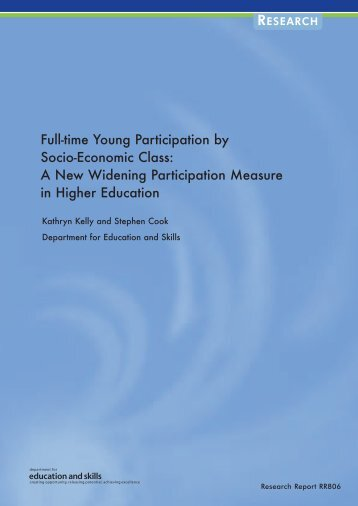 Full-time Young Participation by Socio-Economic Class: A New ...