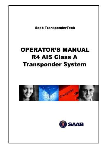 OPERATOR'S MANUAL R4 AIS Class A Transponder ... - Polaris-as.dk
