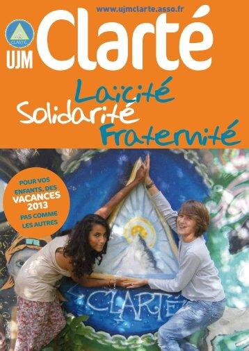 nces 12 vacances 2013 - UJM Clarté