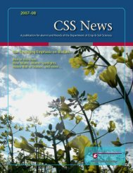 CSS News 2007-08 (pdf) - Dept. of Crop and Soil Sciences ...