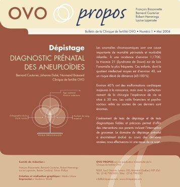 Diagnostic prénatal des aneuploïdes - Clinique OVO