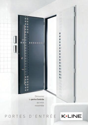 Couleurs k line for Porte d entree aluminium prix