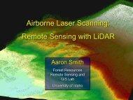 Airborne Laser Scanning: Remote Sensing with LiDAR