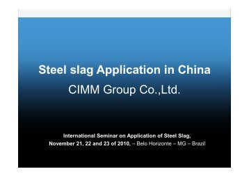 Steel slag Application in China - Feam