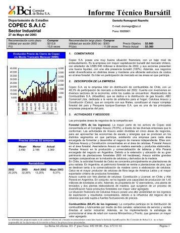 Informe Técnico Bursátil - Bci