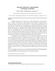 Alternative Models for Competing Risks of Mortgae Termination