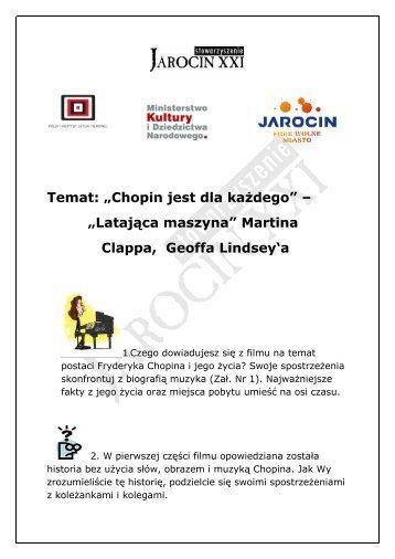 """Temat: """"Chopin jest dla każdego"""" – """"Latająca maszyna"""" Martina ..."""