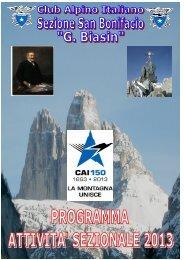 Scarica il pieghevole in formato PDF - Sezione CAI San Bonifacio