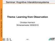 Folien zu 'Learning from Observation' von Christian Harnisch (27.1 ...