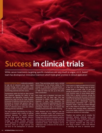 Success in clinical trials - Cancer Prevention Pharmaceuticals, Inc