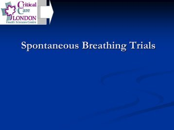Spontaneous Breathing Trials