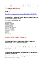Sample Sentences: mechatronics robotics mechanical engineering german to english