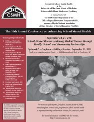 September 22-24, 2011 - Center for School Mental Health ...