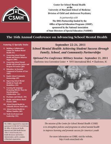 September 22-24, 2011 - Center for School Mental Health ...