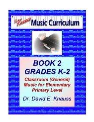 BOOK 2 GRADES K-2 - Knauss Music Curriculum