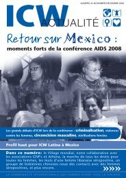 ICW Actualité - International Community of Women Living with HIV ...