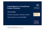 Presentation in pdf - Linguistic Data Consortium
