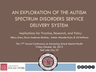 An Exploration of the Autism Spectrum Disorders Service Delivery ...