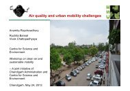 Air quality and urban mobility challenges, Chandigarh - Centre for ...