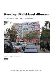 Parking: Multi-level dilemma - Centre for Science and Environment