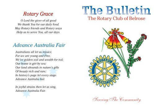 2nd of August - Rotary Belrose