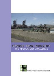 Sponge Iron Industry - Centre for Science and Environment