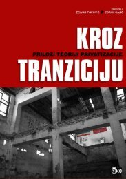 Kroz tranziciju - Centar za socijalna istraživanja