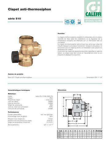 Prises de pression clapet minimess s rie 1620 citec - Clapet anti siphon fonctionnement ...