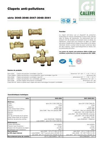 Clapet anti thermosiphon caleffi - Clapet anti siphon fonctionnement ...