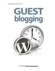 Guest Blogging from Paul Evans © Copyright http://nicheology.com