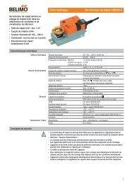 Fiche technique Servomoteur de clapet LM230A-F - Belimo