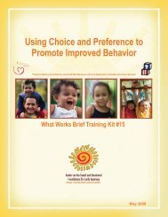 Using Choice and Preference to Promote Improved Behavior