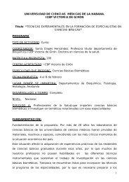 1 UNIVERSIDAD DE CIENCIAS MÉDICAS DE LA HABANA. ICBP ...