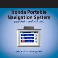 Honda Portable Navigation System - Garmin
