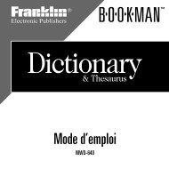 Dictionary - Franklin Electronic Publishers, Inc.