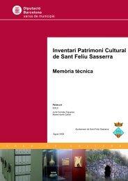 Inventari Patrimoni Cultural de Sant Feliu Sasserra
