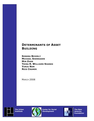 Determinants of Asset Building - Urban Institute