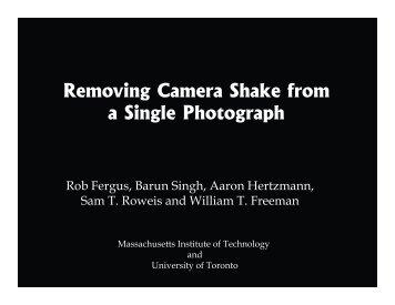 PDF of slides for 1 hour presentation